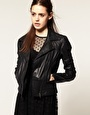 ASOS Leather Jacket (could I get over the quilting on the shoulders & on the back?)