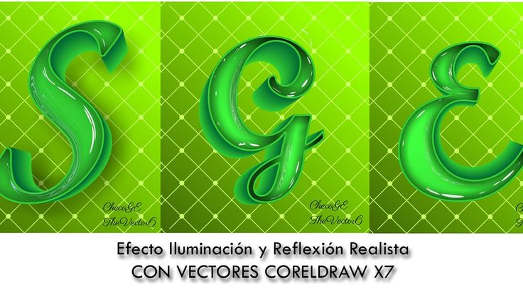 Efecto Iluminación y Reflexión Realista CON VECTORES CORELDRAW X7