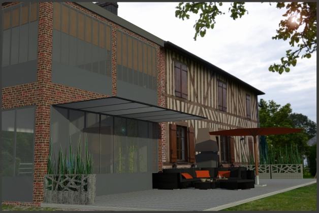 Extension de maison normande