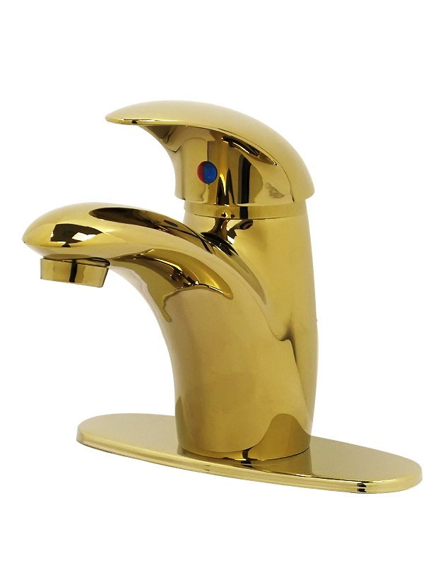 Picture Gallery Website Single Lever Bathroom Faucet Polished Brass NR PB by Nerino