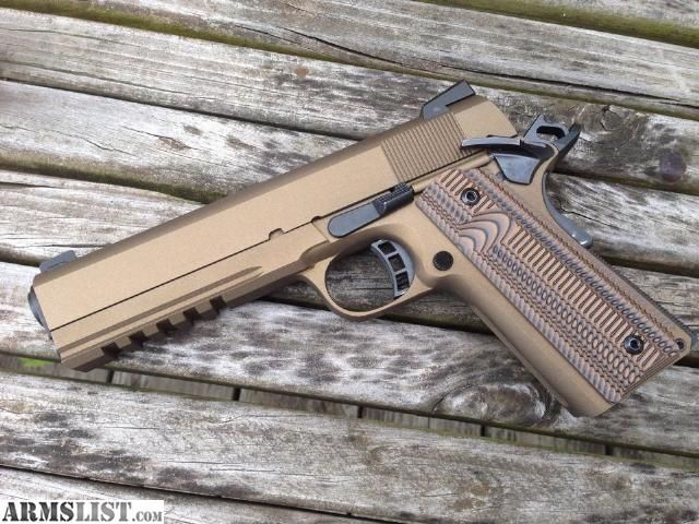 ARMSLIST - For Sale: Rock Island 1911/2011 Tactical 45 Burnt Bronze VZ Grips Night Sights