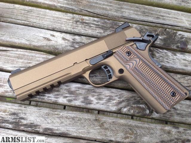 ARMSLIST - For Sale: Rock Island 1911/2011 Tactical 45 Burnt Bronze VZ Grips Night Sights