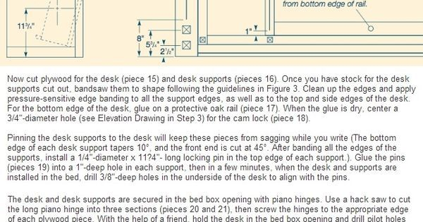 A guide for making a fold down bed. Make the most of tight spaces. Craftsman.com #1897 | DIY and crafts | Pinterest | On the side, Diy murphy bed and Small spa…