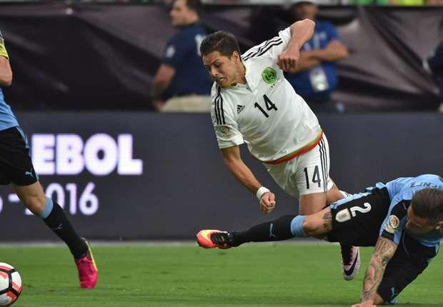 Así fue el partido de Chicharito Hernández contra Uruguay