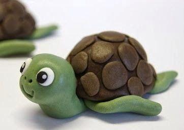 lodijoella: Tortuga de plastilina para hacer con niños
