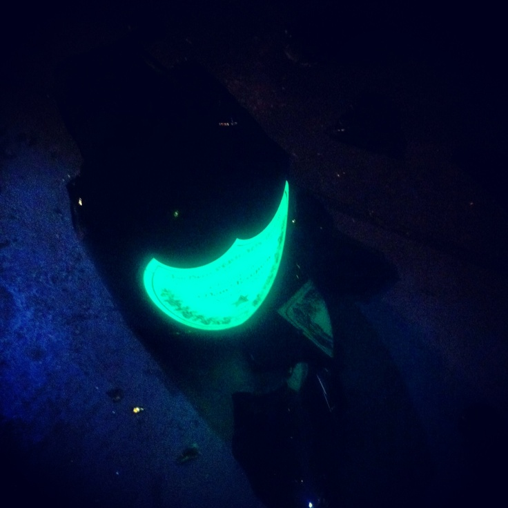 Dom Perignon illuminated, broken
