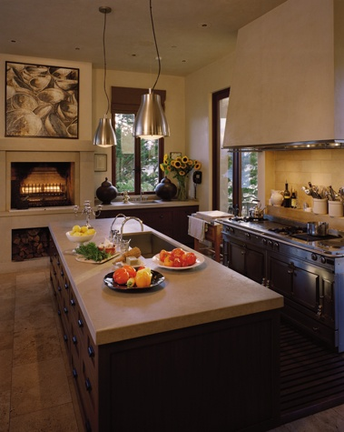 kitchen fireplace | Kitchen remodel, Kitchen interior, Kitchen