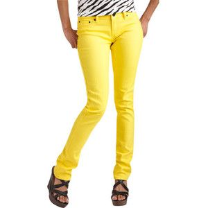 Bright colored jeans for 2012.  Do you like bright apparel?A Mini-Saia Jeans, Skinny Jeans, Colors Jeans, Momma Jeans, Jeans Exotic, Riveter Jeans, Pants Shorts Jeans Skirts, Colored Jeans