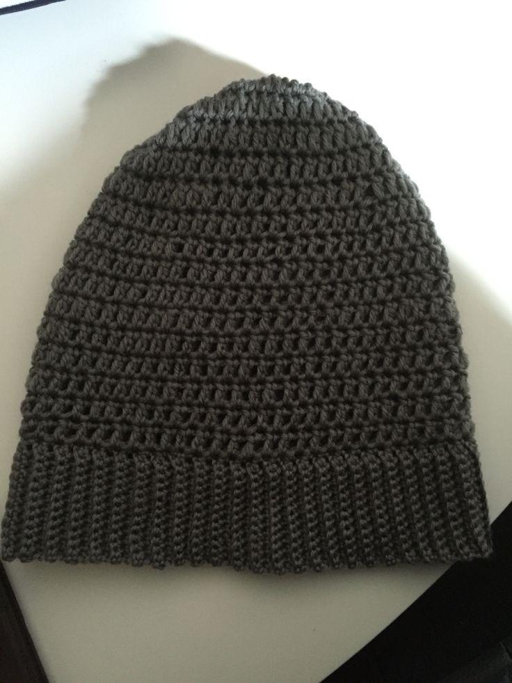 Gorro crochet muy sencillo en punto bajo elástico para el contorno y vareta