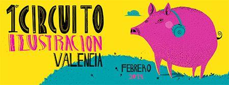 Un gran número de ilustradores, la mayoría de Valencia participan en este circuito exponiendo sus obras repartidas en los diferentes espacios.