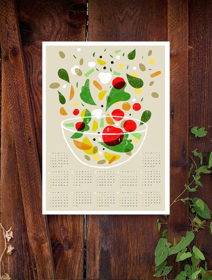 2013 Calendar - Anek Kitchen Art Print