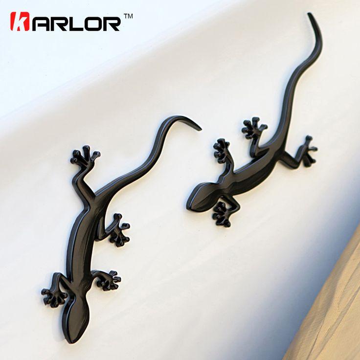 Gecko Lézard Quattero 3D Métal Ho Voiture Auto Moto Logo Emblème Badge Voiture Style Autocollants Automobiles De Voiture Accessoires de Coiffure