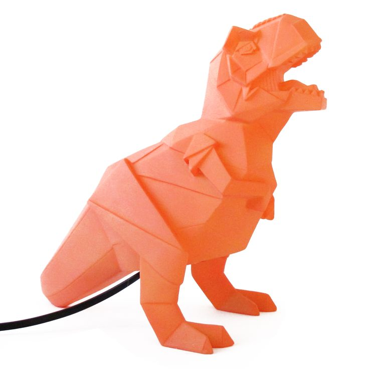 Orange Dinosaur Lamp | Oliver Bonas