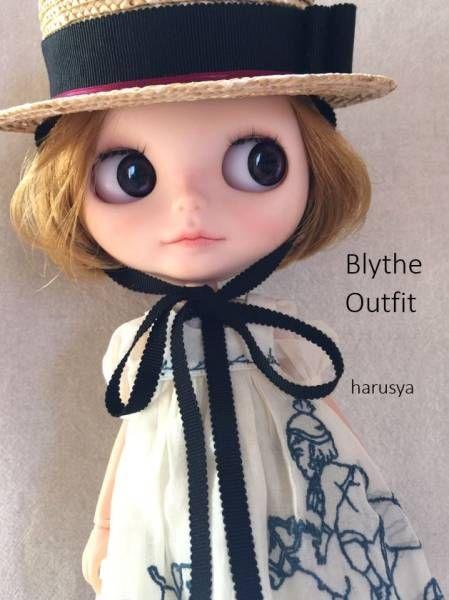 *Blythe outfit・カンカン帽子・洋服set *_画像1