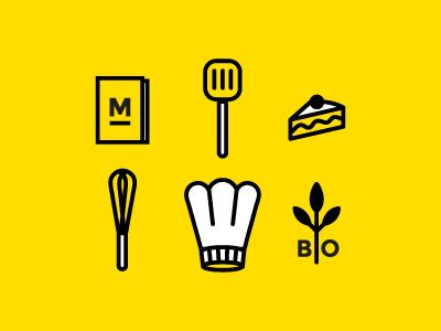 Icons for Chef Julie Basset by Bob Tillieux aka Erbery
