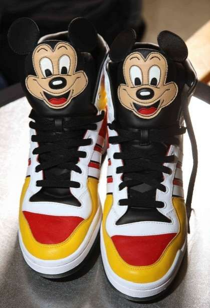 Mickey Mouse Adidas Sneaks Designed by Jeremy Scott trendhunter.com