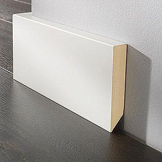 LOGOCLIC Sockelleiste (Weiß, 2,6 m x 19 mm x 100 mm)