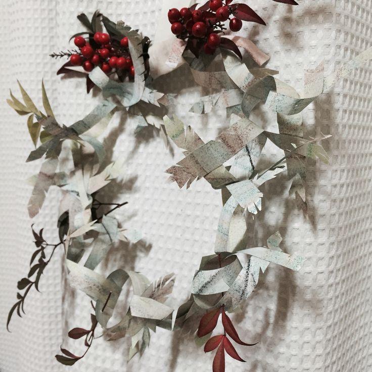 #PaperArt #Paperwork #christmas #wreath
