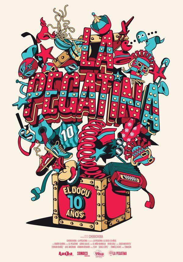 TYPE - ILLUSTRATED PIECES / La Pegatina 10 años on Behance — Designspiration
