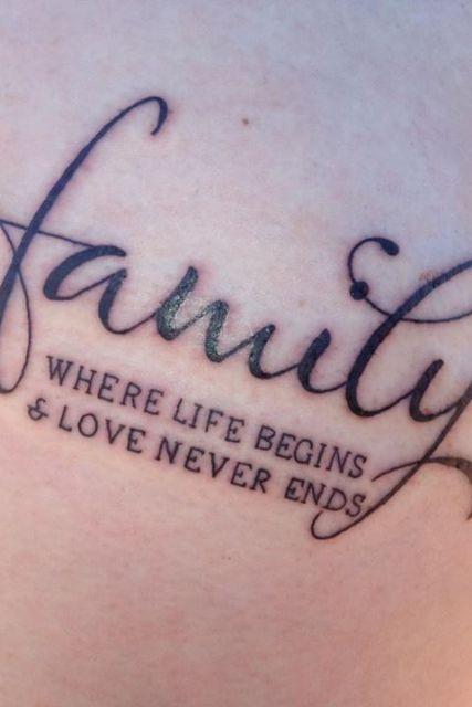 exemplo de frases para tatuagem de família