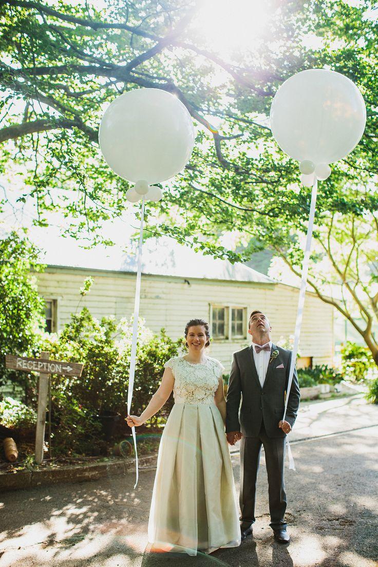 Wedding Portrait | Giant Helium Balloons | Burnham Beeches | Piggery Cafe