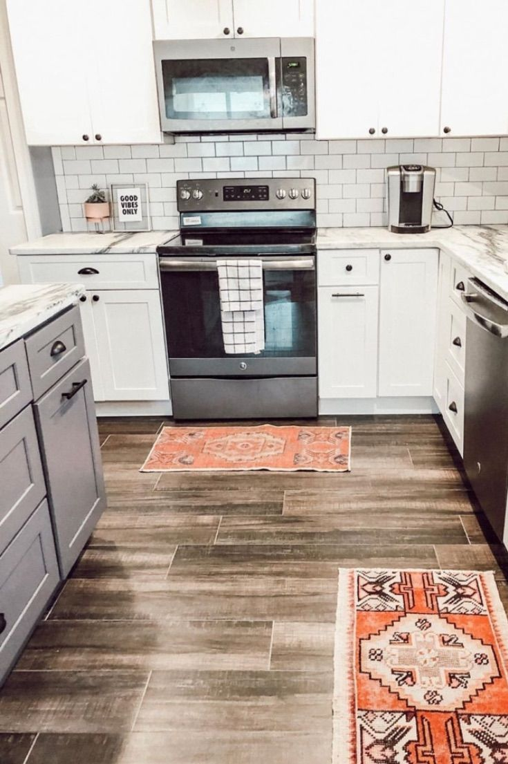 19 Rugs In Kitchen Ideas To Help Update Your Look Picking A Kitchen Rug Is A Great And Inexpensive Decor I Rugs In Kitchen Ideas Kitchen Area Rugs Kitchen Rug Kitchen area rugs ideas