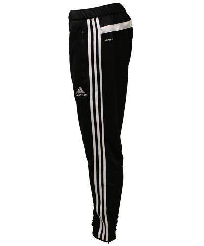 Se trata de un par de pantalones de chándal que se pueden usar para el ocio. Hay rayas en los laterales de los pantalones con el logo de Adidas en el lado izquierdo. Me gusta mucho estos pantalones de chándal porque me mantengo caliente mientras hago ejercicios y no se pegan a mi piel.