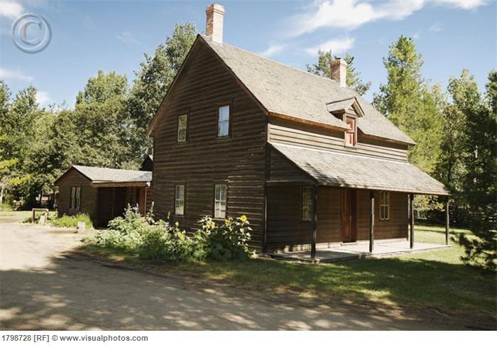 Historical home in Fort Edmonton, Alberta