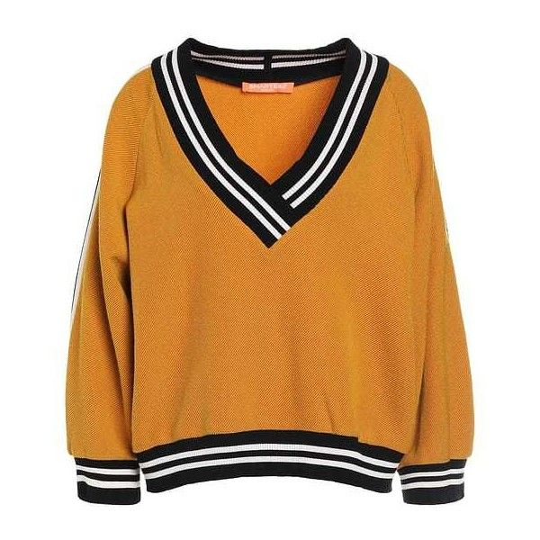 Jumper mustard ($295) ❤ liked on Polyvore featuring tops, sweaters, jumpers, mustard yellow top, orange top, orange sweater, jumpers sweaters and orange jumper