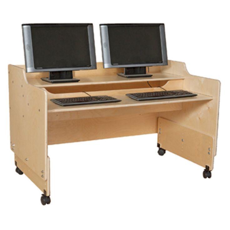 Wood Designs Contender 48 in. Mobile Computer Desk - C41048