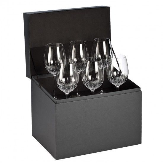 Waterford Crystal LISMORE ESSENCE GOBLET Set of 6 Wine Glasses #155950 NEW #Waterford