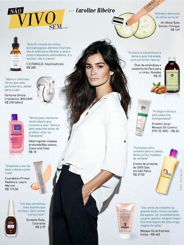 Dicas de produtos para cabelo e pele por Caroline Ribeiro