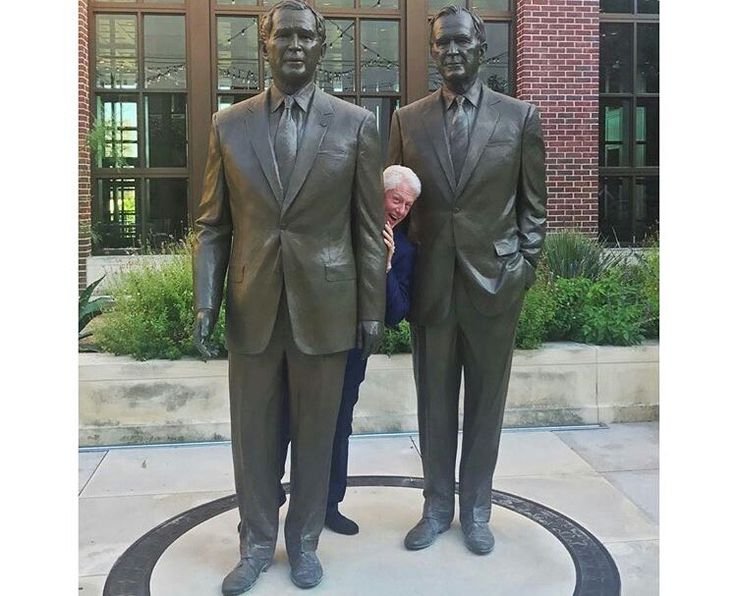 Former president Bill Clinton at the George W. Bush Library in July 2017.