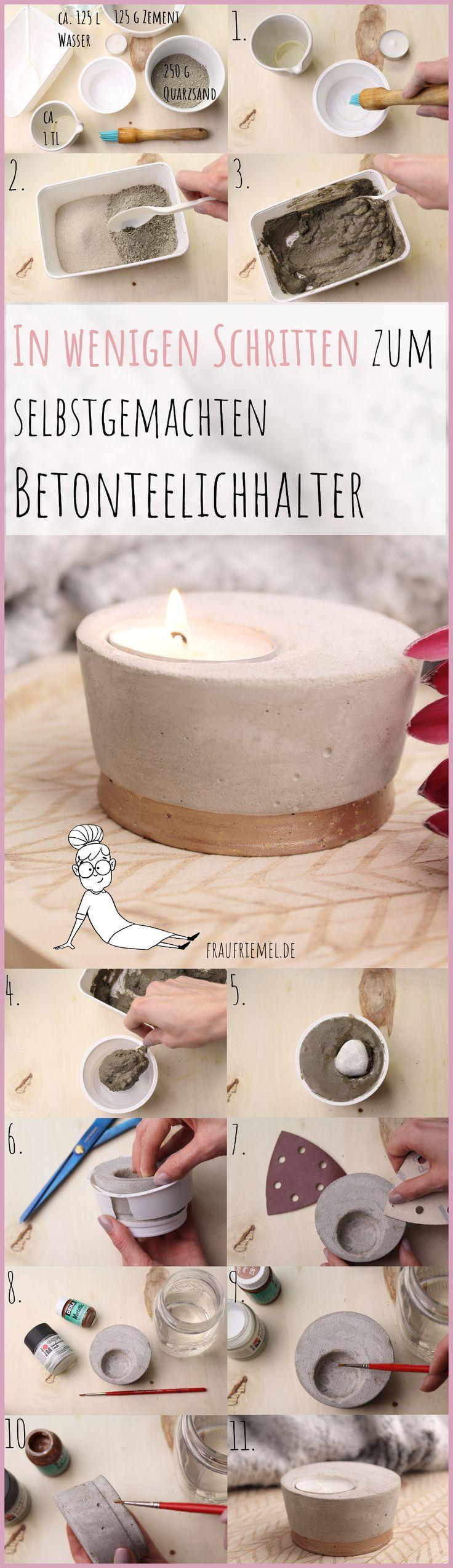 Beton Kerzenhalter selber machen – schön & funktionell