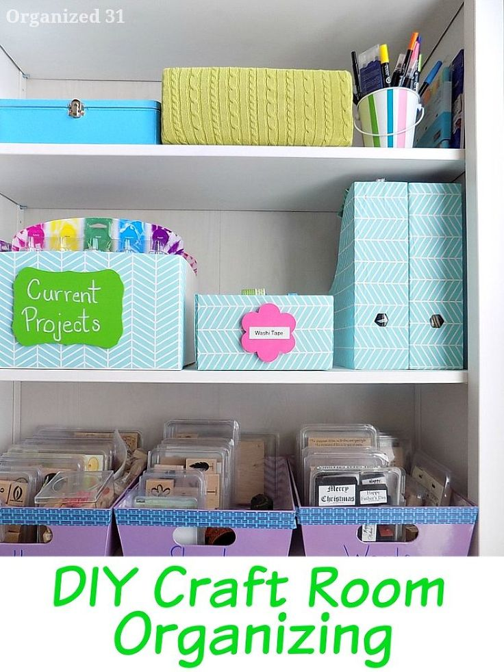diy craft room organizing - How To Make Your Room Organized