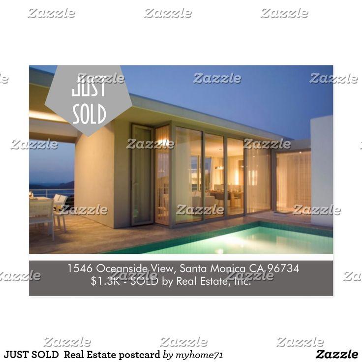 JUST SOLD Real Estate postcard 28 best