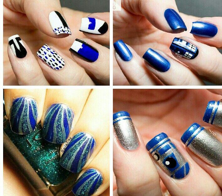 Nail Art Designs Royal Blue: Royal Blue Nail Art