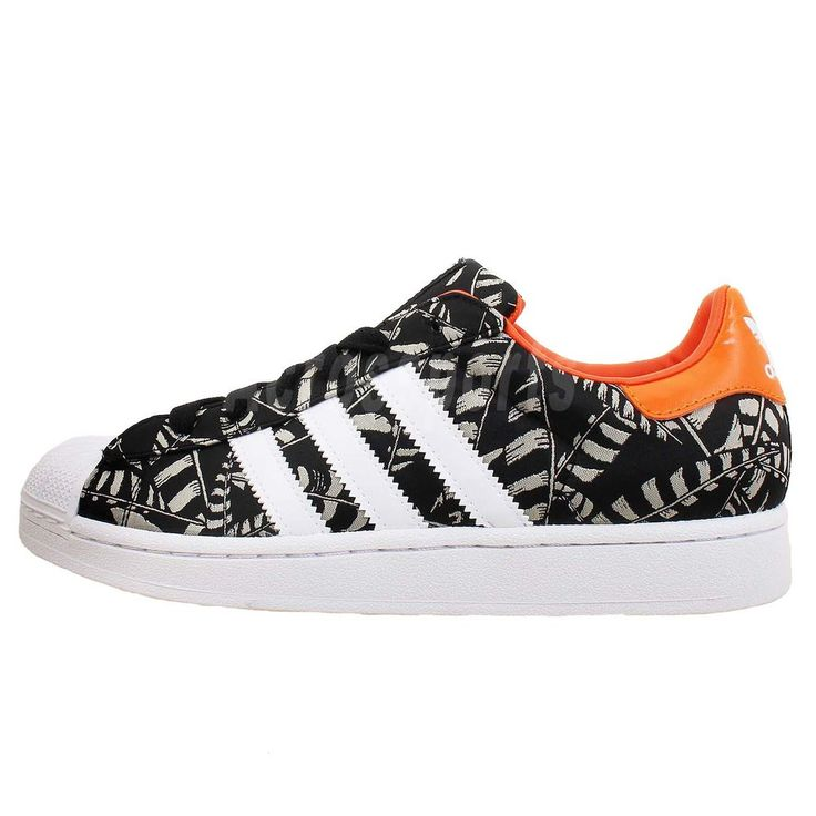 Adidas Originals Superstar 2 II EF W Black Orange Womens Casual Shoes  Sneakers in Clothes,
