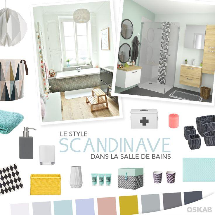 Découvrez notre planche de tendance sur le style scandinave pour recréer dans votre salle de bains une ambiance nordique qui allie pureté et simplicité. #salledebain #scandinave www.oskab.com