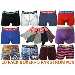 10 Pack Högstaberg Boxer Kalsonger + 5 Par Högstaberg Strumpor