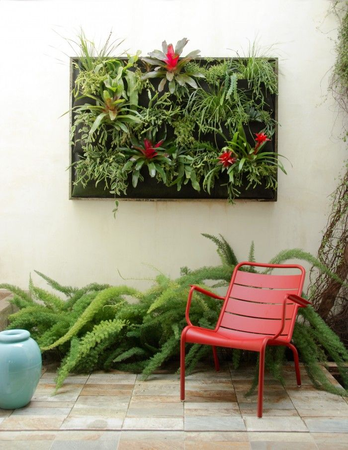 Plant wall and Fermob Luxembourg Collection Chair