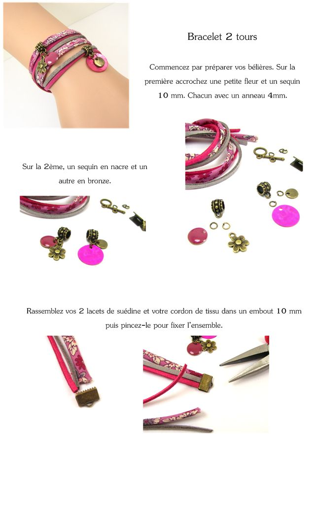 bracelet liberty breloque diy
