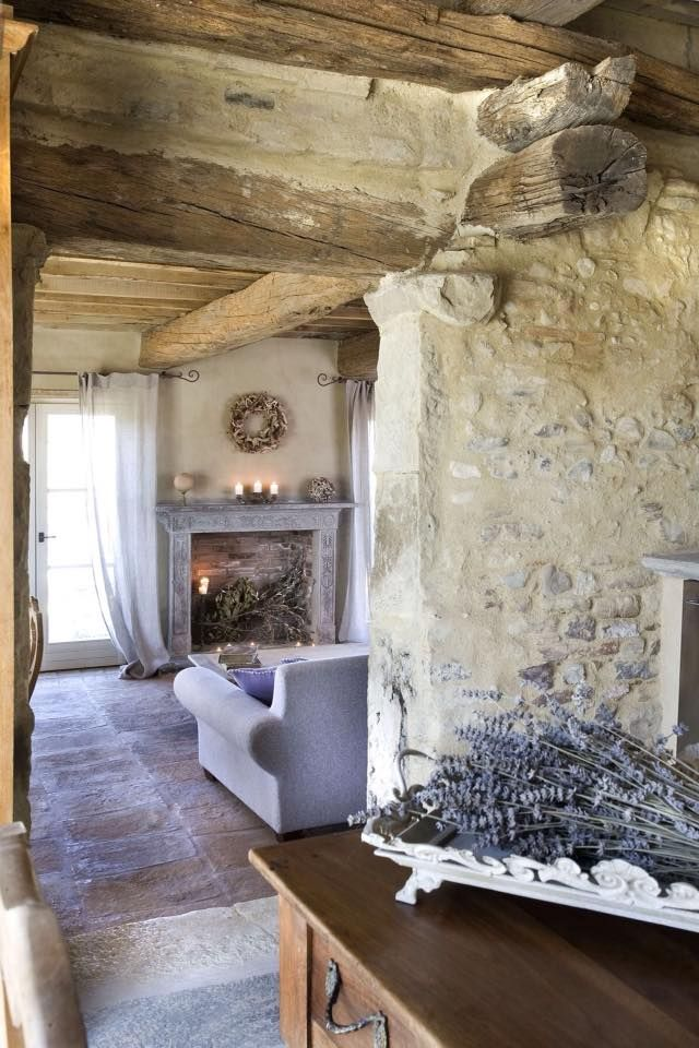 Best French Farmhouse Images On Pinterest French Farmhouse - Cozy wooden country house design with interior in colors of provence