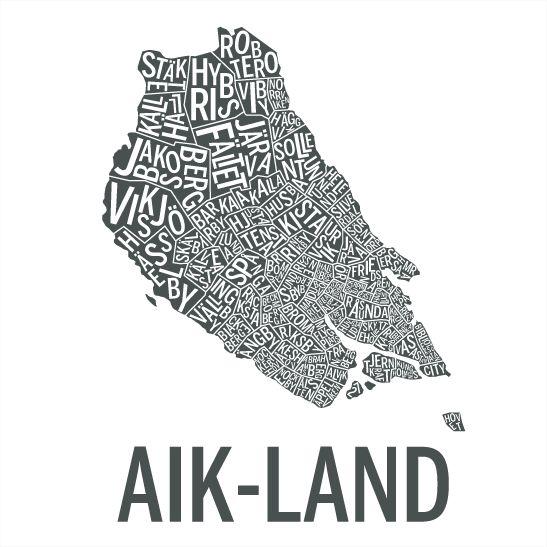 AIK-land i färgen grafit
