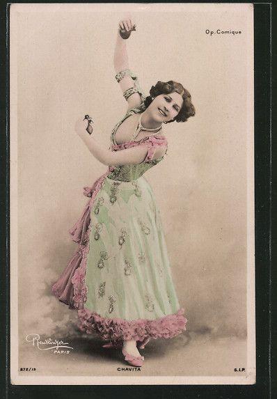 Luz Chavita | Foto AK Atelier Reutlinger Paris Schauspielerin Chavita MIT Kastagnetten | eBay