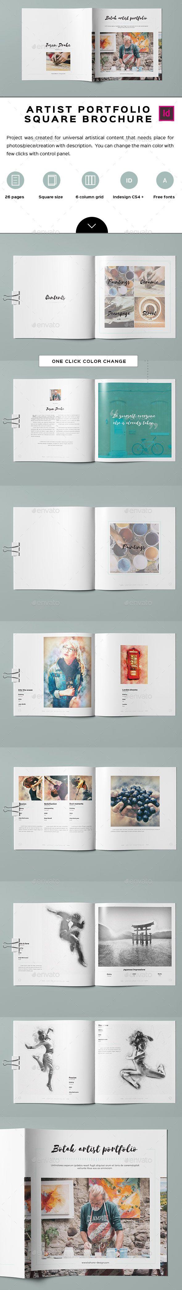 Botak Artist Portfolio • Available here → http://graphicriver.net/item/botak-artist-portfolio/15447698?ref=pxcr