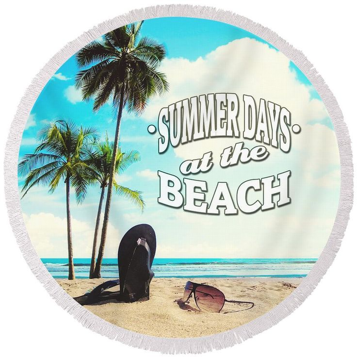 #beach #beachtowel #towel #roundtowel #round #summer #summerdays #palmtrees #retro