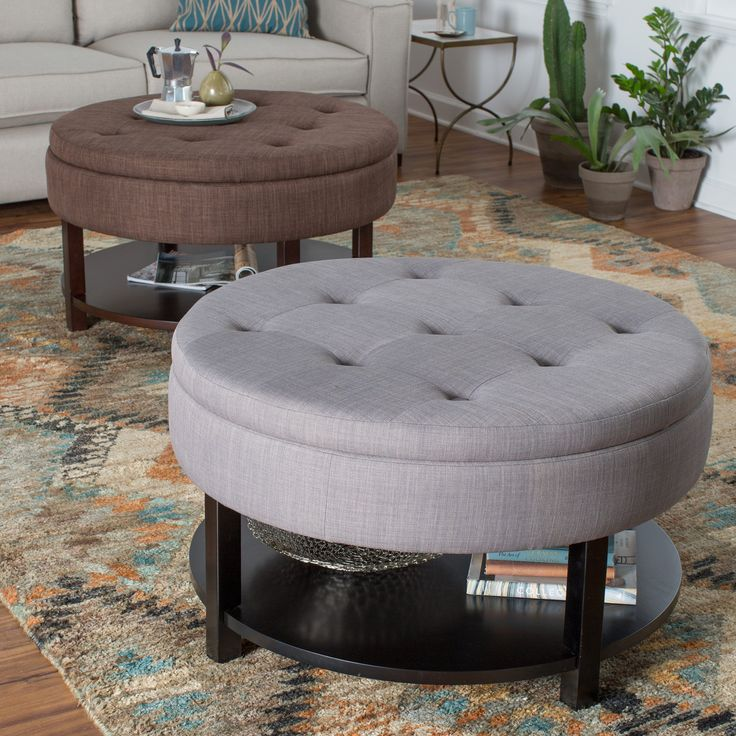 Belham Living Dalton Coffee Table Storage Ottoman With Tray Shelf In A Small Space You Need
