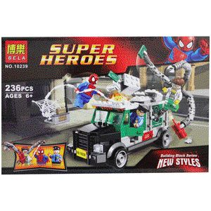 LEGO Superheroes Spiderman ( The Truck Robbery ) : - Termasuk minifigure LEGO : Spiderman, Prof.Octopus, Policeman - Di lengkapi Buku Panduan Perakitan yang detail & mudah di mengerti - Bahan berkualitas super, rapi dan halus - Merek Bela - Tersedia Seri Super Heroes lainnya : Superman ( Metropolis Showdown ), Iron Man ( Laboratory ), Batman ( Batman vs Henchman ), Iron Man ( Suit Up ), Artic Batman vs Mr Freeze ( Aquaman on Ice ), Spiderman ( Cycle Chase ) www.bukalapak.com/indosoccerstarz