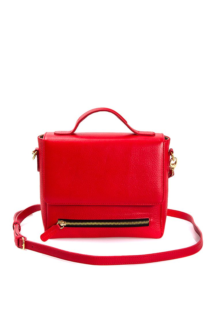 Sophie Handbags by Andra Paduraru   Geanta mini din piele naturala rosie   WE LOVE COUTURE